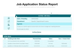 Job Application Status Report Ppt PowerPoint Presentation Icon Model PDF
