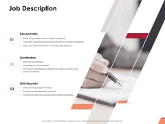 Job Description Ppt PowerPoint Presentation Inspiration Good