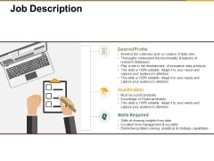 Job Description Ppt PowerPoint Presentation Model Guidelines
