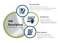 Job Description Ppt PowerPoint Presentation Pictures Aids