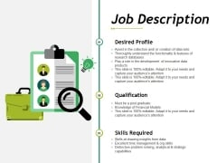 Job Description Ppt PowerPoint Presentation Pictures Infographics