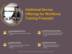 Job Driven Training Additional Service Offerings For Workforce Training Proposal Ppt Ideas Tips PDF