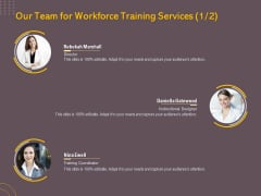 Job Driven Training Our Team For Workforce Training Services Ppt Model Vector PDF