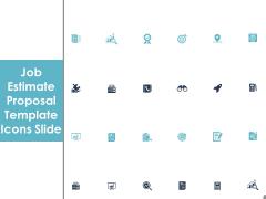 Job Estimate Proposal Template Icons Slide Ppt Icon Outline PDF