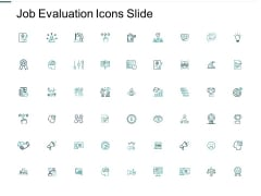 Job Evaluation Icons Slide Dollar Ppt PowerPoint Presentation Professional Deck