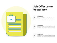 Job Offer Letter Vector Icon Ppt PowerPoint Presentation Gallery Introduction PDF