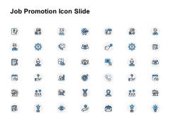 Job Promotion Icon Slide Gear Ppt PowerPoint Presentation Portfolio Gallery