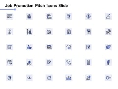 Job Promotion Pitch Icons Slide Vision Ppt PowerPoint Presentation Pictures Example Introduction