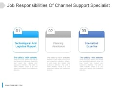 Job Responsibilities Of Channel Support Specialist Ppt Slide