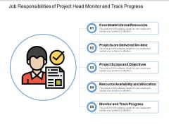 Job Responsibilities Of Project Head Monitor And Track Progress Ppt PowerPoint Presentation File Graphics Pictures