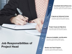 Job Responsibilities Of Project Head Ppt PowerPoint Presentation Infographic Template Gallery