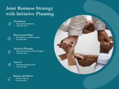 Joint Business Strategy With Initiative Planning Ppt PowerPoint Presentation File Outline PDF