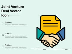 Joint Venture Deal Vector Icon Ppt PowerPoint Presentation Inspiration Show PDF