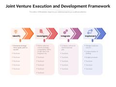 Joint Venture Execution And Development Framework Ppt PowerPoint Presentation Gallery Demonstration PDF