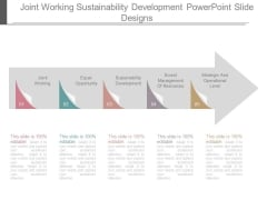 Joint Working Sustainability Development Powerpoint Slide Designs