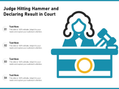 Judge Hitting Hammer And Declaring Result In Court Ppt PowerPoint Presentation File Background Images PDF