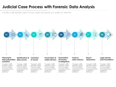 Judicial Case Process With Forensic Data Analysis Ppt PowerPoint Presentation Gallery Deck PDF