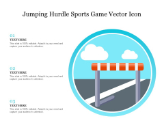 Jumping Hurdle Sports Game Vector Icon Ppt PowerPoint Presentation Gallery Graphics PDF