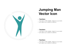 Jumping Man Vector Icon Ppt PowerPoint Presentation Infographics File Formats
