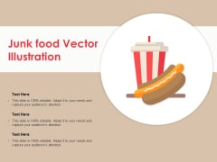Junk Food Vector Illustration Ppt PowerPoint Presentation Layouts Graphics Pictures