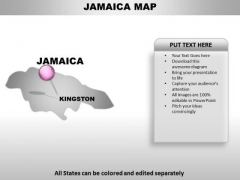 Jamaica powerpoint templates slides and graphics jamaica country powerpoint maps toneelgroepblik Gallery