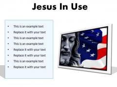 Jesus In Usa Religion PowerPoint Presentation Slides F