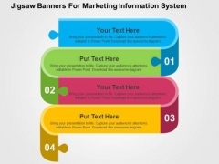 Jigsaw Banners For Marketing Information System PowerPoint Templates