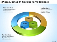 Joined Circular Form Business PowerPoint Theme Plans Software Slides