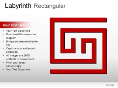 Journey Labyrinth Rectangular PowerPoint Slides And Ppt Diagram Templates