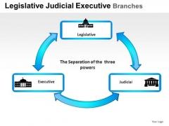 Judgment Legislative Judicial Executive Branches PowerPoint Slides And Ppt Diagram Templates