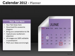 June 2012 Calendar PowerPoint Slides