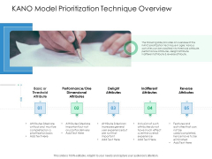 KANO Model Prioritization Technique Overview Action Priority Matrix Ppt Pictures Layout PDF