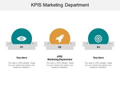 KPIS Marketing Department Ppt PowerPoint Presentation Slides Master Slide Cpb