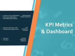 KPI Metrics And Dashboard Ppt PowerPoint Presentation Infographics Model