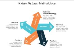 Kaizen 5S Lean Methodology Ppt PowerPoint Presentation Styles Summary Cpb