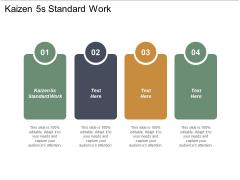 Kaizen 5S Standard Work Ppt PowerPoint Presentation Icon Gallery Cpb