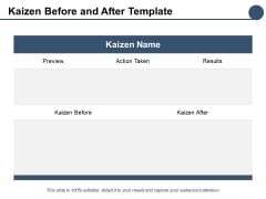 Kaizen Before And After Template Ppt PowerPoint Presentation Icon Objects