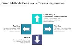 Kaizen Methods Continuous Process Improvement Ppt PowerPoint Presentation Model Portfolio Cpb Pdf
