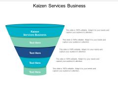 Kaizen Services Business Ppt PowerPoint Presentation Summary Master Slide Cpb