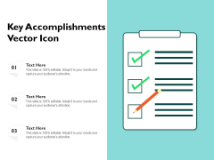 Key Accomplishments Vector Icon Ppt PowerPoint Presentation Gallery Display PDF