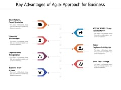 Key Advantages Of Agile Approach For Business Ppt PowerPoint Presentation Show Good PDF
