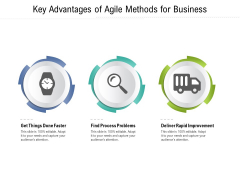 Key Advantages Of Agile Methods For Business Ppt PowerPoint Presentation Gallery Layout Ideas PDF