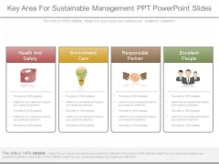 Key Area For Sustainable Management Ppt Powerpoint Slides