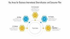 Key Areas For Business International Diversification And Consumer Plan Ppt PowerPoint Presentation File Pictures PDF