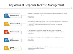 Key Areas Of Response For Crisis Management Ppt PowerPoint Presentation File Microsoft PDF