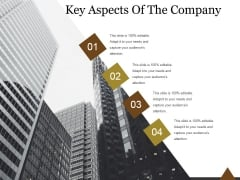 Key Aspects Of The Company Ppt PowerPoint Presentation Infographics