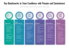Key Benchmarks To Team Excellence With Passion And Commitment Ppt PowerPoint Presentation Ideas Microsoft PDF