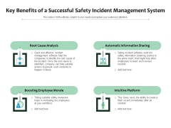 Key Benefits Of A Successful Safety Incident Management System Ppt PowerPoint Presentation Infographics Information PDF