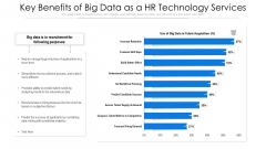 Key Benefits Of Big Data As A HR Technology Services Ppt PowerPoint Presentation Ideas Show PDF