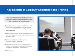 Key Benefits Of Company Orientation And Training Ppt PowerPoint Presentation Gallery Information PDF